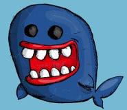 Ballena de la historieta Imagen de archivo libre de regalías