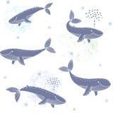 Ballenas inconsútiles stock de ilustración