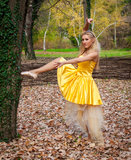 Ballerina έξω στοκ φωτογραφία