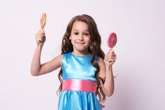 ballerina λίγα Εύγευστη γλυκύτητα Πολύχρωμα lollipops Στοκ φωτογραφίες με δικαίωμα ελεύθερης χρήσης