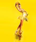 Ballerina σε μια πυρκαγιά στοκ εικόνα