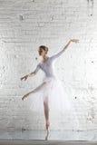 ballerina στο λευκό στοκ εικόνες