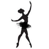 Ballerina στο χορό watercolor διάνυσμα Στοκ φωτογραφία με δικαίωμα ελεύθερης χρήσης