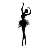 Ballerina στο χορό watercolor Στοκ φωτογραφία με δικαίωμα ελεύθερης χρήσης