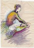 Ballerina, 10 zeichnend Stockbild