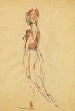 Ballerina, 11 zeichnend Stockfotografie