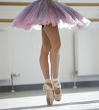 Ballerina. Close up of ballerina in rehearsal Royalty Free Stock Image
