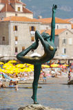 Ballerina. Statue of ballerina from Mogren, Montenegro Stock Images