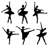 Ballerina. Abstract illustration of dancing ballerina silhouettes Stock Image