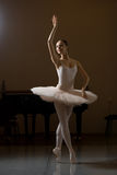 Ballerina. Posing in the training room Stock Photo