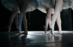 The ballerina. During dance execution, body performance choreography Royalty Free Stock Photography