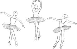 Ballerina royalty illustrazione gratis