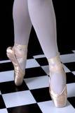 Ballerina. Shot of ballerina's leg on a point Stock Image