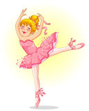 Ballerina. Young ballet dancer with blond hair and pink tutu dress Royalty Free Stock Photography