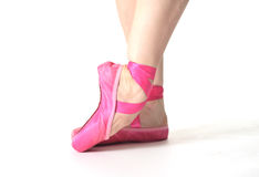Ballerina. In pink pointe shoes Royalty Free Stock Photography