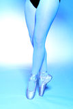 Ballerina. Close up image of a female ballerina legs. Blue toned for artistic effect Royalty Free Stock Photography