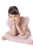 Ballerina. Young ballerina girl on pink dress Royalty Free Stock Photography