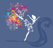 Ballerina - abstract card Stock Images