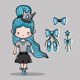 Ballerina accesories decoration to elegance performance. Vector illustration Royalty Free Stock Photo