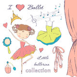 Ballerina and accessories Royalty Free Stock Photo