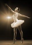 Ballerina-Aktion lizenzfreie stockfotos