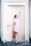 Ballerina all'aperto immagine stock