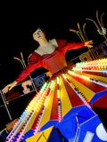 Ballerina at amusement park. Close up ballerina at amusement park by night Stock Photo