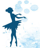 Ballerina and artistic background Royalty Free Stock Photos