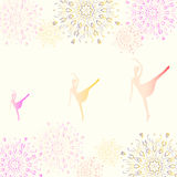 Ballerina on a background of snowflakes Royalty Free Stock Images