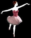 Ballerina balett, dans, dansare som isoleras Arkivfoto