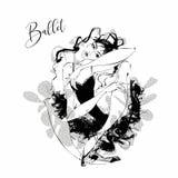 ballerina Ballerino del cabaret Rossetto di Moulin ballare Illustrazione di vettore illustrazione di stock