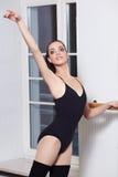 Ballerina  in ballet class Stock Images