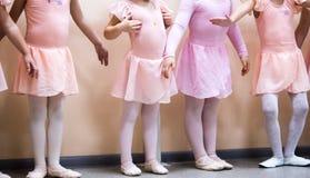 Ballerina Ballet classes. Many kids legs Ballerina Ballet classes in class stock photos