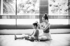 Ballerina Ballet Dance Practice Innocent Concept Royalty Free Stock Photos