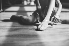 Ballerina Ballet Dance Practice Innocent Concept Royalty Free Stock Images