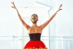 Ballerina in the ballet hall stock photos