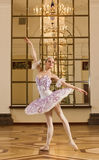 Ballerina in ballet pose Royalty Free Stock Photography