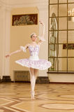 Ballerina in ballet pose Royalty Free Stock Images
