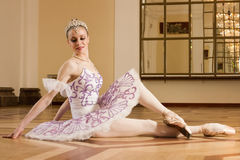 Ballerina in ballet pose Stock Photos