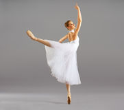 Ballerina in ballet pose classical dance stock photo