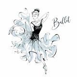 Ballerina ballgames Wilis Χορεύοντας κορίτσι στα παπούτσια Pointe διάνυσμα απεικόνιση αποθεμάτων