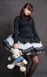 Ballerina with bear Royalty Free Stock Images