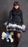 Ballerina with bear Royalty Free Stock Photos