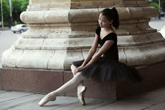 Ballerina. Beautiful Ballet dancer (ballerina) outdoors Stock Image