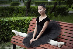 Ballerina. Beautiful Ballet dancer (ballerina) outdoors Royalty Free Stock Images