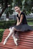 Ballerina. Beautiful Ballet dancer (ballerina) outdoors Stock Images