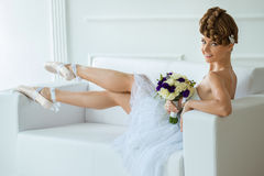 Ballerina with a beautiful bouquet Stock Photo