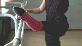 Ballerina bij de Staaf stock video