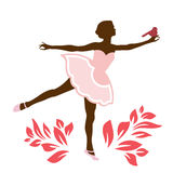 Ballerina with bird on her hand Royalty Free Stock Photography