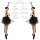 Ballerina in black with copyspace Royalty Free Stock Images